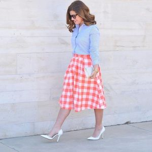 Pinup Girl Retro Vintage Gingham skirt